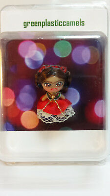 Frida Kahlo Mini Liddle Kiddles 7/8in (2cm) Fan Art Doll