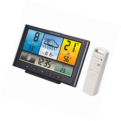 Digital AcuRite Weather Station Clock Accurate Forecast with Colour LCD Display