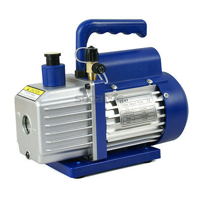 3.5CFM Rotary Vane Vacuum Pump Single Stage HVAC 1/4HP Air Conditioning A/C Deep