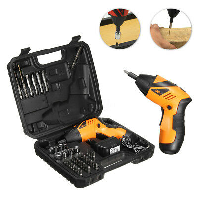 Electric Drill Driver Bits Set Screwdriver Battery & Recharger Cordless Wireless