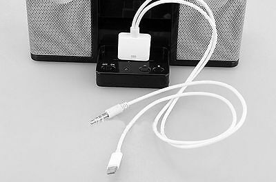 30 pin female iPhone 4s to 8pin male 3.5mm Audio Adapter for iPhone 6 5S 5C iPad