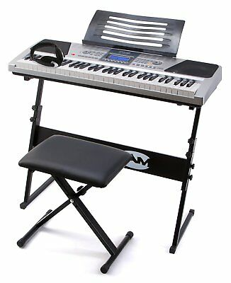 RockJam RJ661 61 Key Electronic Interactive Teaching Piano Keyboard with Stand