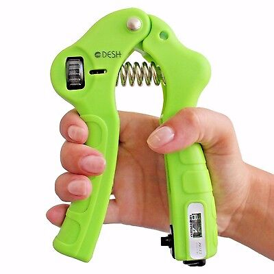 Adjustable Hand Grip Exerciser with Counter (Great Hand, Wrist or Fingers) NIB