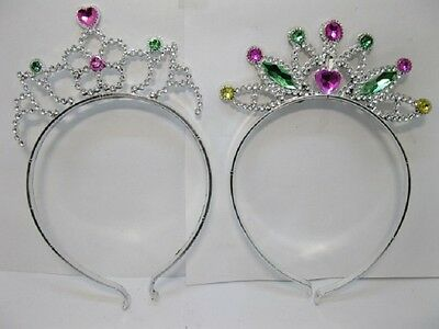 12 Sets Kids Tiaras & Fairy Stick Princess Costume Accessory