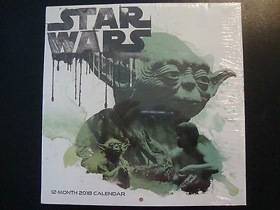 "STAR WARS  2018 CALENDAR NIP 10"" X 10"" unopened"
