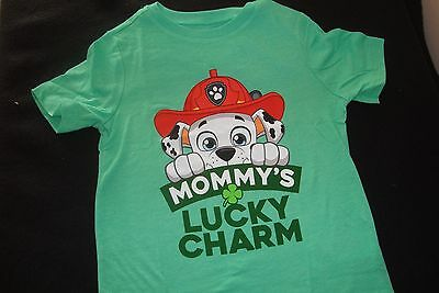 """Paw Patrol /  Old Navy  Nwts  Graphic Tee Shirt """"mommy's Lucky Charm"""""""