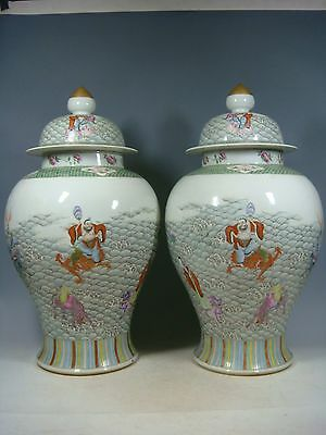 beautiful chinese famille rose gilded porcelain pots