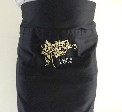 Mid Length Apron - Black with Embroidery Buy 1 Get 1 FREE