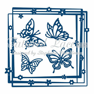 Tattered Lace Die Starlight Square D594 Butterfly
