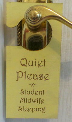 """Personalised Wooden """" Do Not Disturb """" Door Hanger ~ Any Message ~ double sided"""