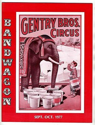 BANDWAGON Journal of the Circus Historical Society Gentry Bros Sept 1977
