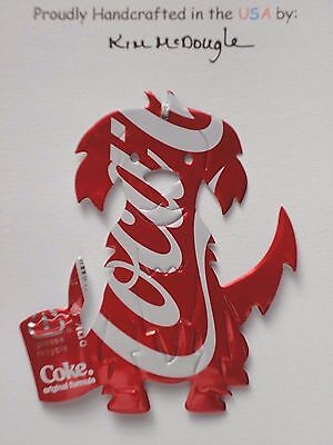 Dog #3 Handmade Christmas Ornament Recycled Aluminum Metal C Cola Soda Pop Can