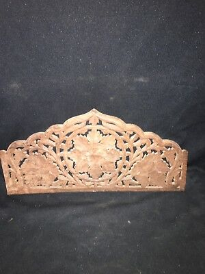 "1930's 17 7/8"" Carved Wood Pediment"