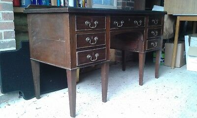 Desk/sideboard with glass top