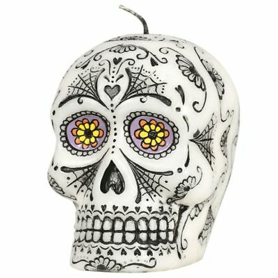 Halloween Day of the Dead Skull Candle 10cm High Party Decoration