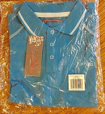 Rockfish Riders Polo Shirt With Coolskyn Short Sleeve Blue 12/13yrs Med & Large