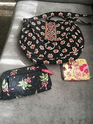Vera Bradley mixed Lot Of 3 Purse Wallet