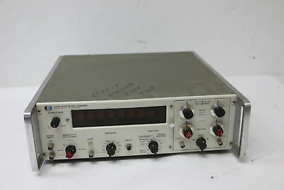 VINTAGE HP 5245L Electronic Frequency Counter w/ 5267A Time Interval Unit TESTED