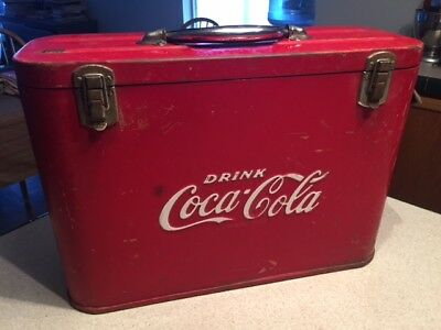 COCA COLA Airline Cooler with Bottle Opener made by Cavalier 1950's Original