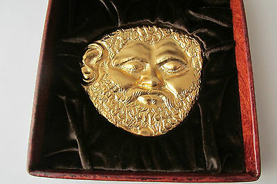 Luxurious Thracian Gold Mask of King Teres I 5-4 C.BC. Reproduction with box