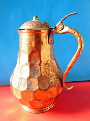 Antique copper kettle hand wrought Albania