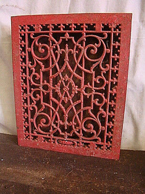 Antique Late 1800's Cast Iron Heating Grate Unique Ornate Design 16.75 X 13.75 Y