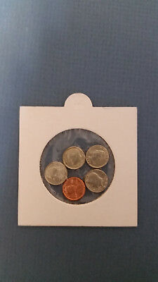 Set of 5 mini coin set  Funny money novelty  penny nickel dime quarter dollar