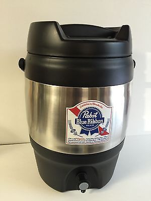 Pabst Blue Ribbon PBR Beer Cooler w/ Spout Heavy Duty SS ~ NEW (Blemishes) USA