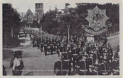 British Army 2nd Worcestershire Regiment returning from Church 1908 G.D.&D.