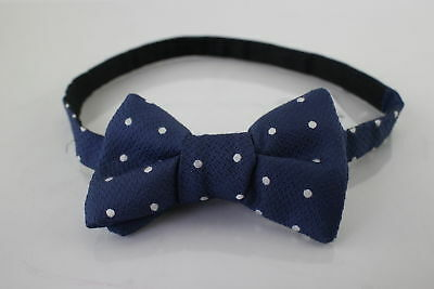 NWT $110 Tom Ford Blue Polka Dot Bow Tie Made in Italy 100% Silk