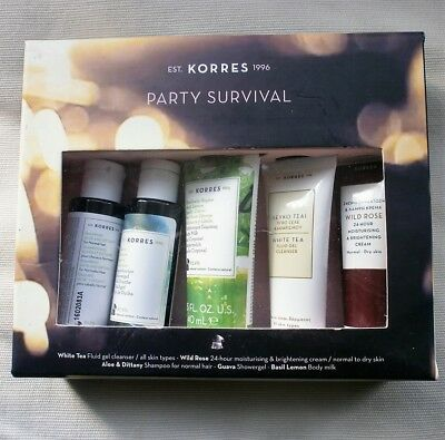 KORRES All New Party Survival Kit NEW