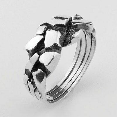 6b13a20f858ef PUZZLE RING - 4 Bands Silver Sterling 925 - Woman - Man - Cool Gift ...