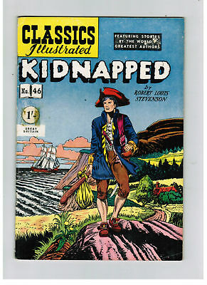 CLASSICS ILLUSTRATED COMIC No. 46 Kidnapped HRN 123