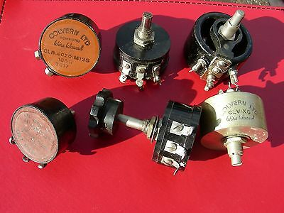 Vintage Wire Wound Colvern Rotary Potentiometers