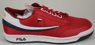29376a546e34 Men s Fila Retro Heritage Original Tennis Red White Navy 1VT13017-620 Brand  New