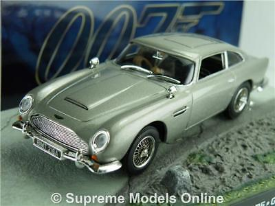 Aston Martin Db5 James Bond Car Model 1:43 Scale Silver Goldfinger Special T4Z