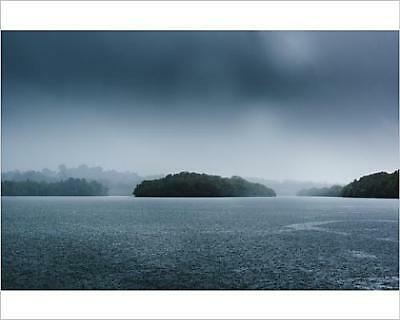 """10""""x8"""" (25x20cm) Print of The Pouring Rain Over Maroochy River"""