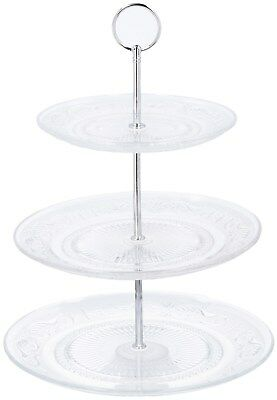 3 Tier Vintage Style Glass Cake Stand Retro Cupcake Stand Biscuit Cake Plate
