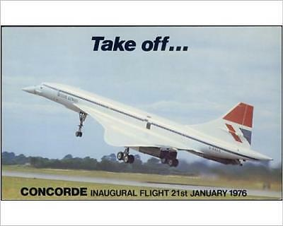 """10""""x8"""" (25x20cm) Print of CONCORDE INAUGURAL 1976 from Prints Online"""