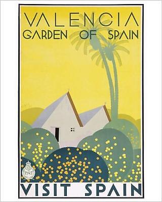 """10""""x8"""" (25x20cm) Print of Poster for Valencia, Garden of Spain"""