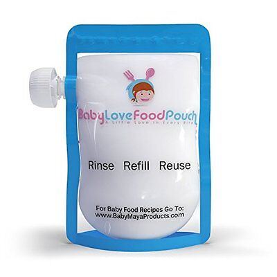 8 Reusable Baby Food Pouches-Refillable Bags for Homemade Food-Babies Toddlers