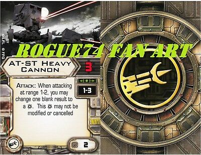 Custom X-Wing Miniatures Fan Art Upgrade Card: Cannon AT-ST Heavy Cannon