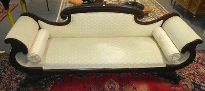 Antique Mahogany Federal Style Settee, Chaise or Love Seat USA