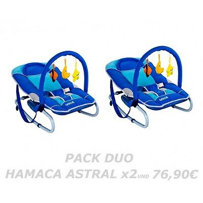 PACK DUO HAMACAS PARA BEBES Modelo ASTRAL. Reclinable.
