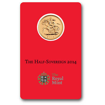 2014 Half Sovereign Gold Bullion Coin Struck in India- ROYAL MINT