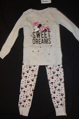 """Old Navy /  Disney Minnie Mouse Snug  Fit Pajamas Nwts  """"sweet Dreams"""""""