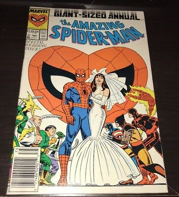 Amazing Spider-Man Annual #21 (1987) High Grade Wedding Issue Newstand Variant