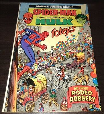 Spider-man and The Incredible Hulk Foley's Promo Comic FN+ HTF