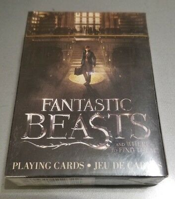 New! Fantastic Beasts Playing Cards