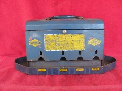 Vintage Sunoco Gas Service Station Tire Patch Dispenser Store Display Tin Sign